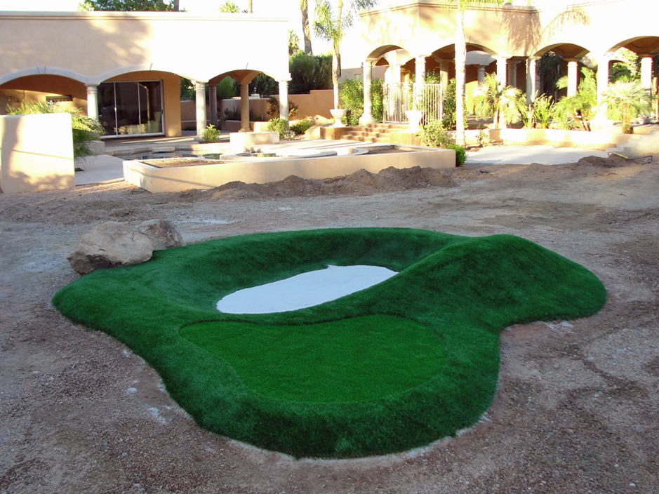 Fake Lawn Upland, California Best Indoor Putting Green, Commercial Landscape