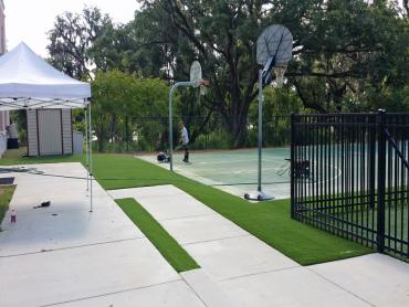 Artificial Grass Photos: Synthetic Turf West Puente Valley, California Red Turf, Commercial Landscape