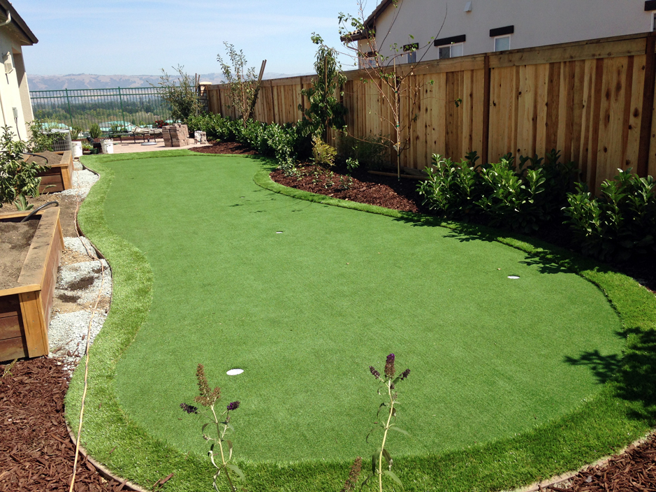Synthetic Turf Poso Park, California Backyard Putting ... on Artificial Turf Backyard Ideas id=90953